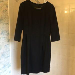 3/4 sleeve wool dress